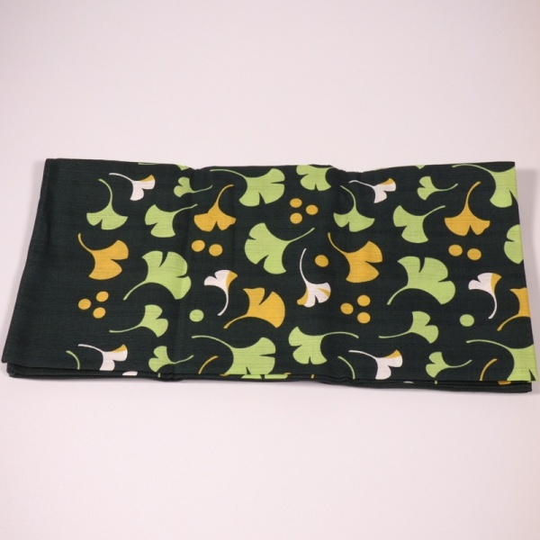 Unfolded green furoshiki cloth