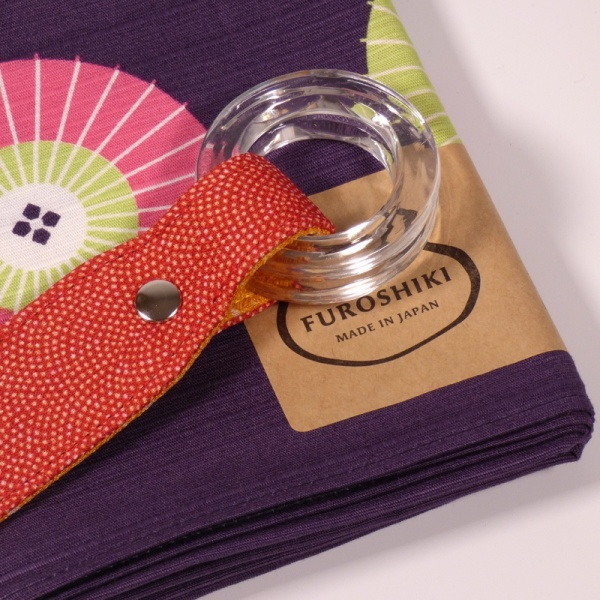 Red handle with purple furoshiki
