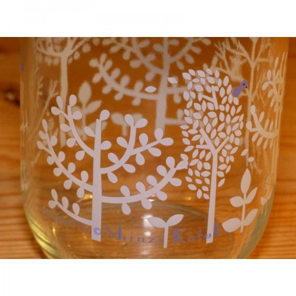 450ml Glass Storage Jar - pattern detail