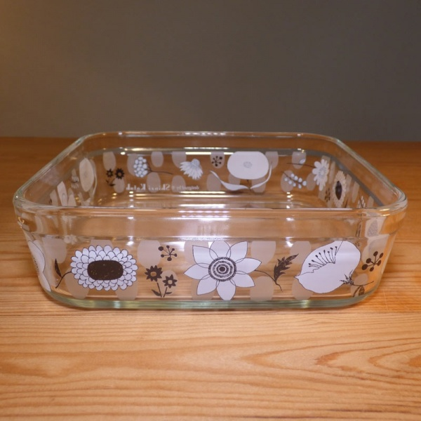 Large-size glass storage container with lid