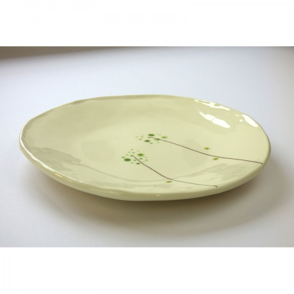 Wild Grass Japanese ceramic plate