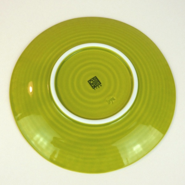 Green Hasami ware Japanese ceramic side plate