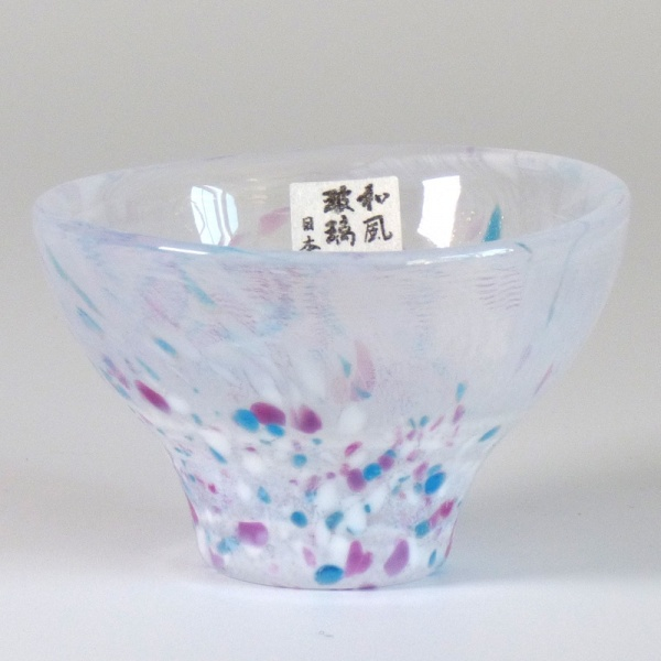 'Haru' Japanese glass sake cup