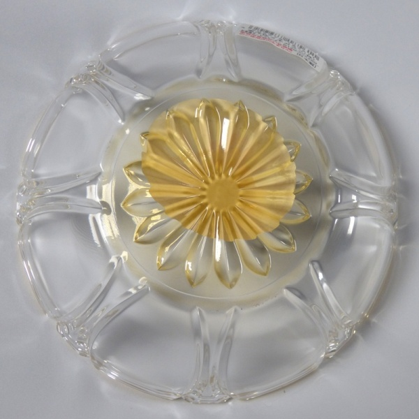 Underside of Japanese glass bowl