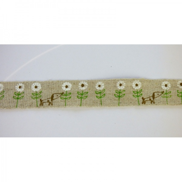Dog & Daisy linen tape detail