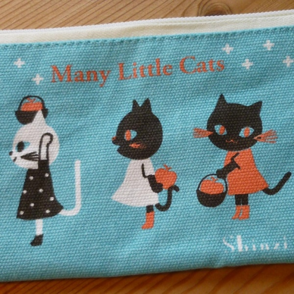Many Little Cats pencil case - detail