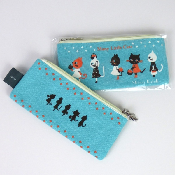 Many Little Cats pencil case - front & back