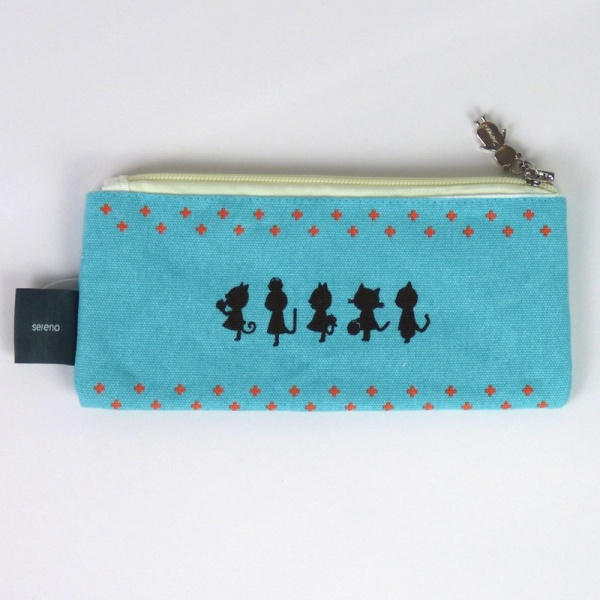 Many Little Cats pencil case - back