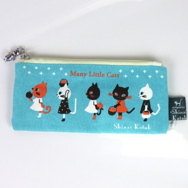 Many Little Cats pencil case - front