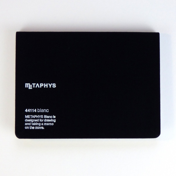 METAPHYS blanc notebook front cover in black