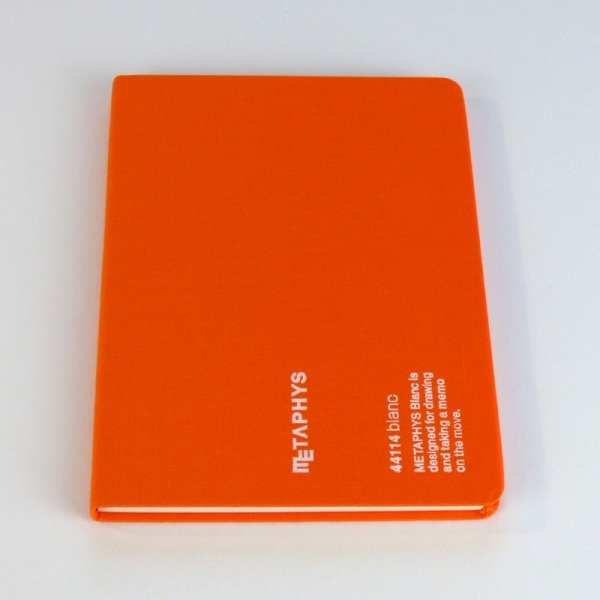 METAPHYS blanc notebook front cover in orange