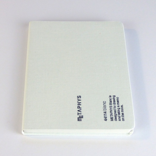 METAPHYS blanc notebook front cover in white