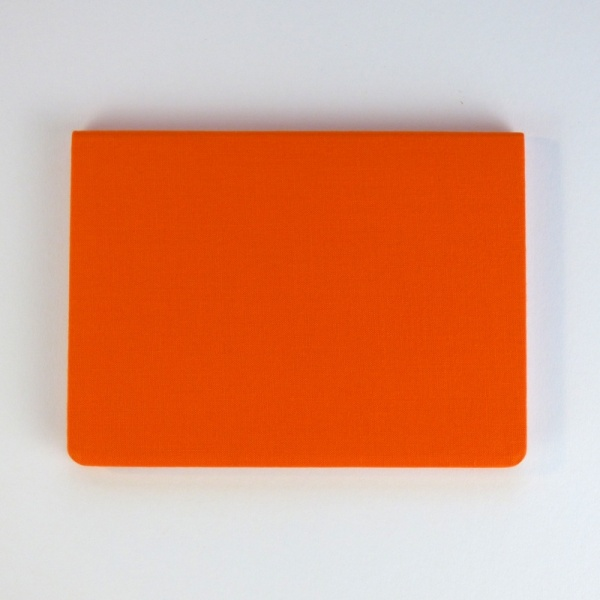METAPHYS blanc notebook back cover in orange