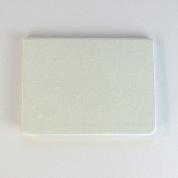METAPHYS blanc notebook back cover in white