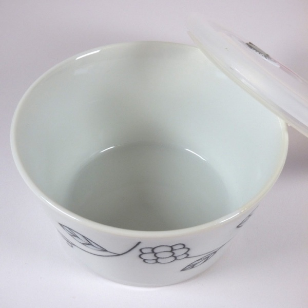 Inside of ceramic storage dish