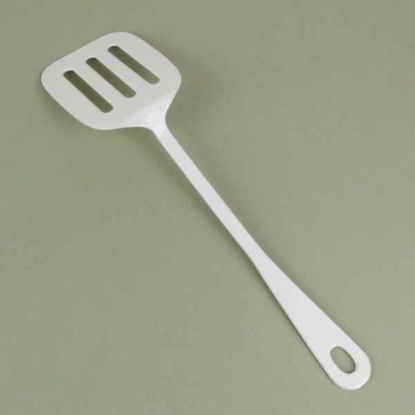 White enamel mini spatula