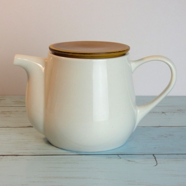 White ceramic Japanese teapot