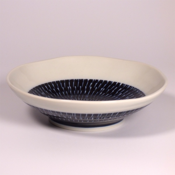 Medium Navy and White Tobikanna Bowl
