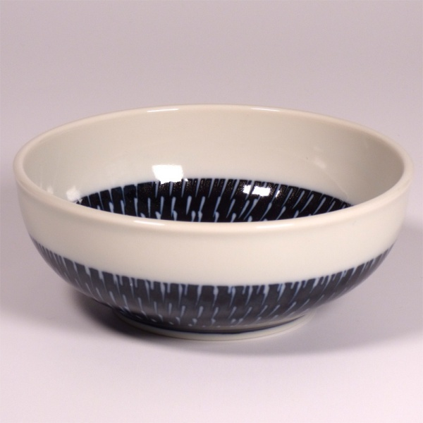 Small Navy and White Tobikanna Bowl