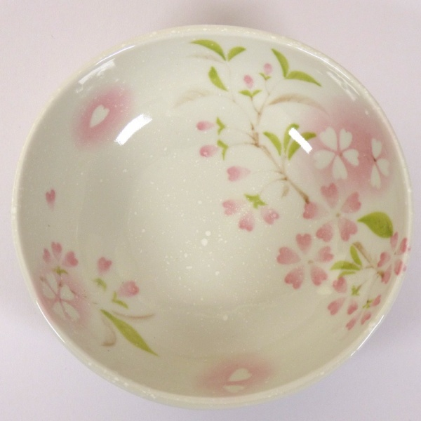 'Petal' porcelain bowl in pink, top view
