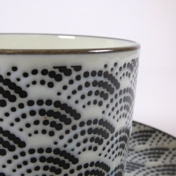 Qinghai wave coffee cup pattern close up