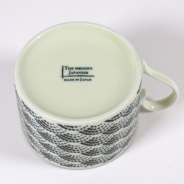 Qinghai wave coffee cup pattern underside