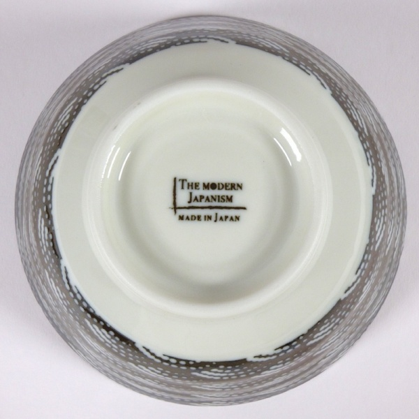 Monochrome Qinghai wave pattern rice bowl underside