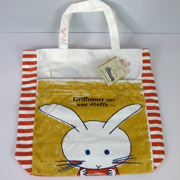 Canvas tote bag with Rabbits design