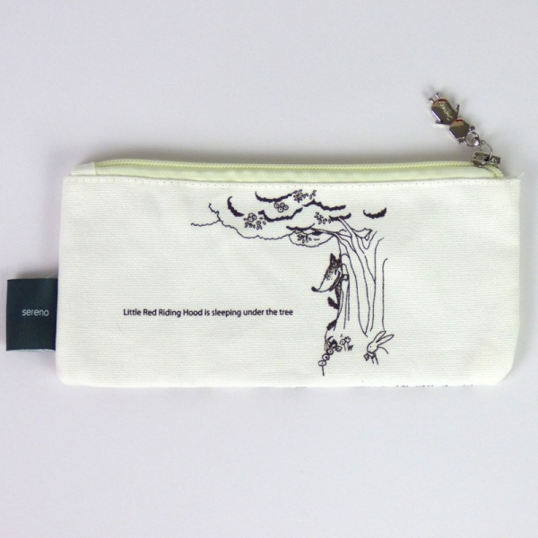 Red Riding Hood pencil case - back