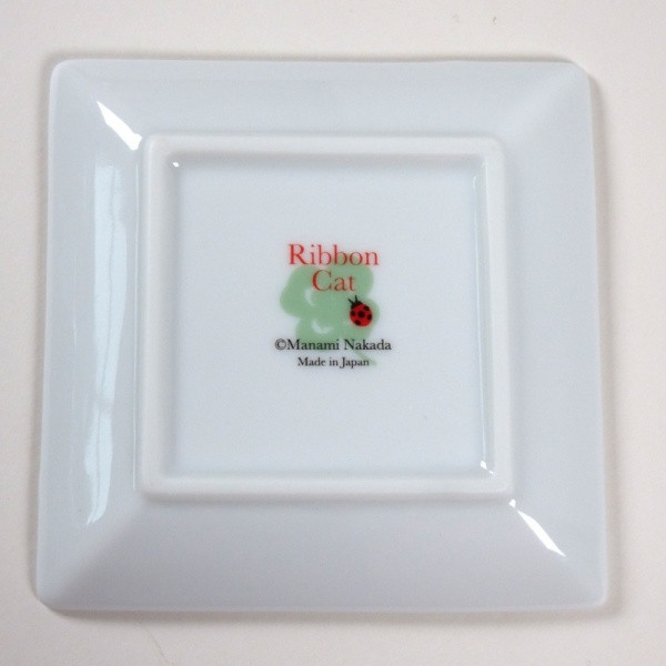 Underside of 'Ribbon Cat' mini plate