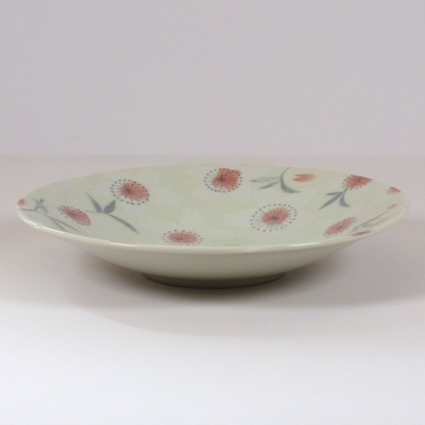 'Sakura Temari' ceramic dish in Cream