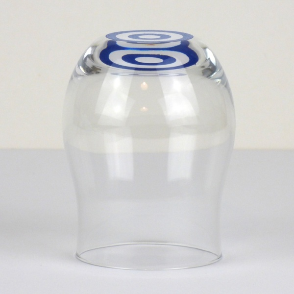 'Snake eye' design sake tasting glass