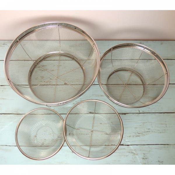 Small and large kitchen sieve sets