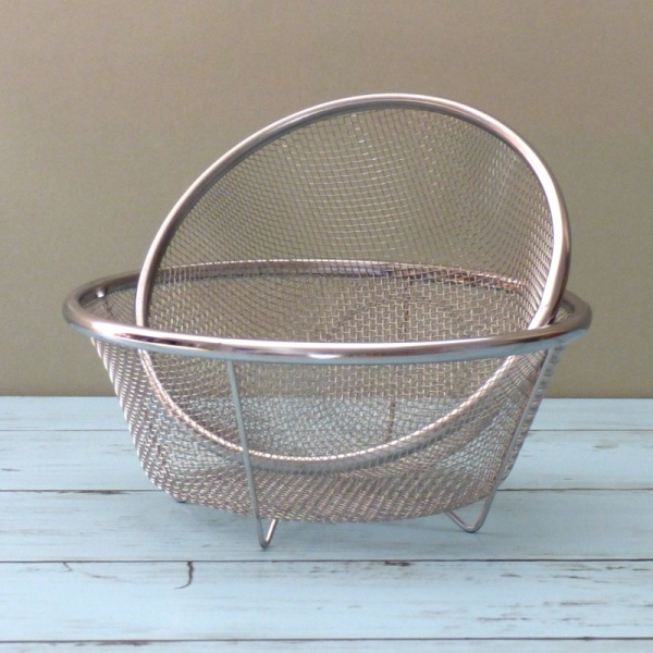 Set of two small Japanese stainless steel sieves