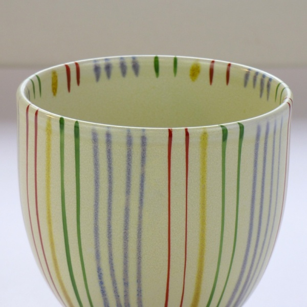 Japanese teacup with striped design detail