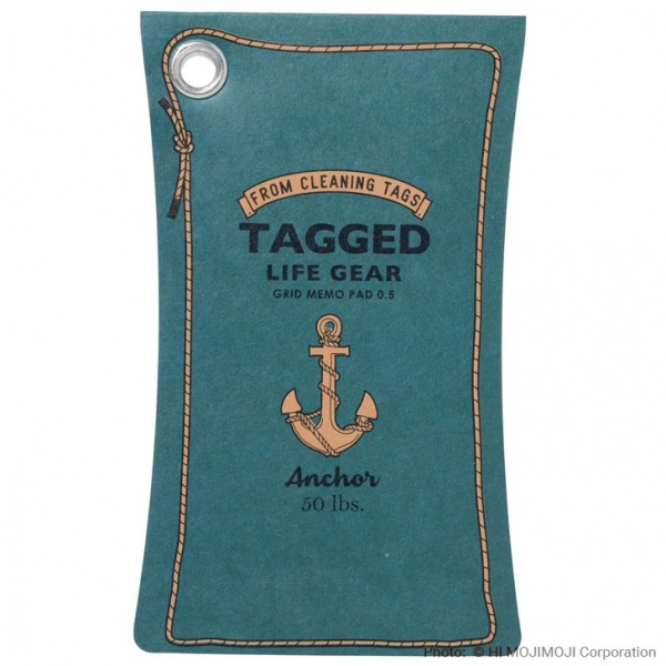 'Tagged Life Gear' Japanese notepad with Blue Anchor cover