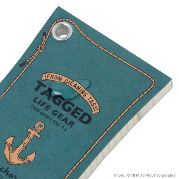 'Tagged Life Gear' Japanese notepad with water splash