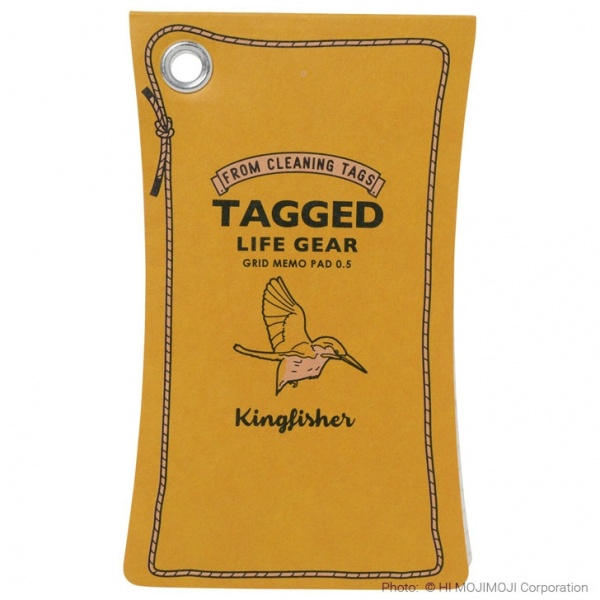 'Tagged Life Gear' Japanese notepad with Yellow Kingfisher cover