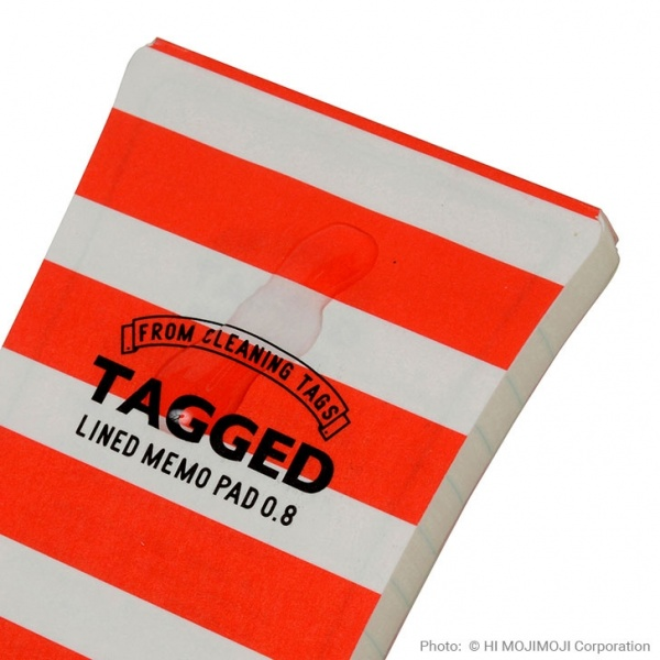 'Tagged' Japanese notepad with Red Stripe cover