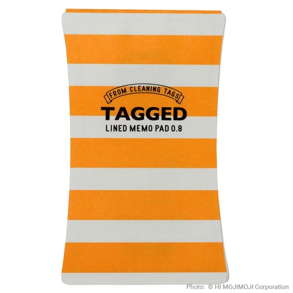 'Tagged' Japanese notepad with Yellow Stripe cover