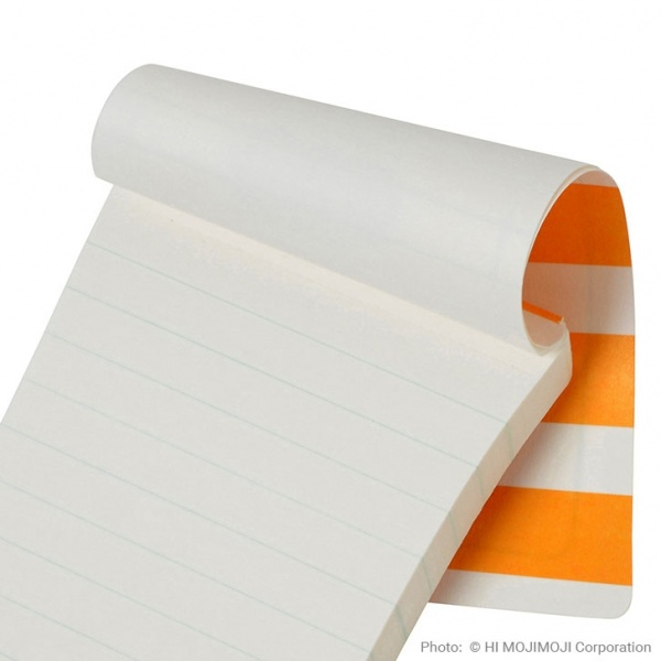 'Tagged' Japanese notepad showing lined note paper