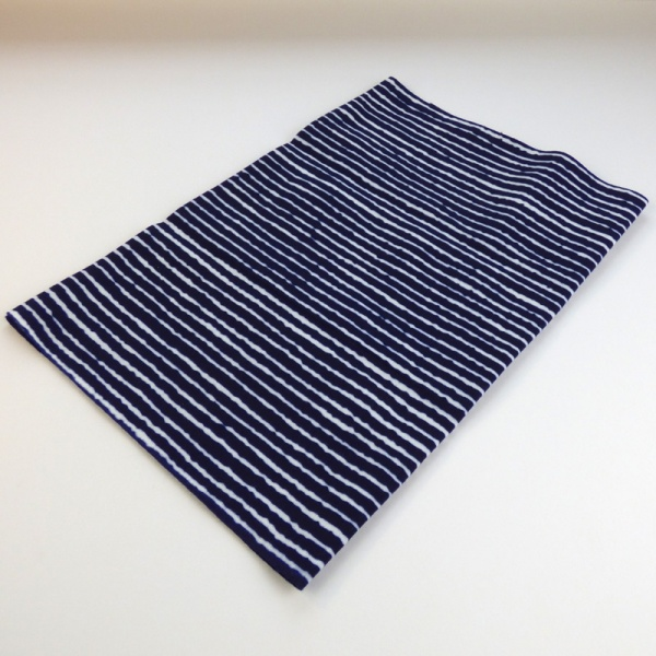 Navy blue stripe Japanese tenugui cloth