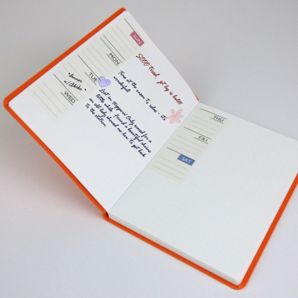 Schedule Book Masking Tape being used as a diary