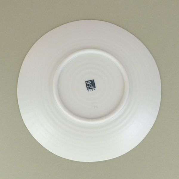 Underside of Japanese Hasami ware plate