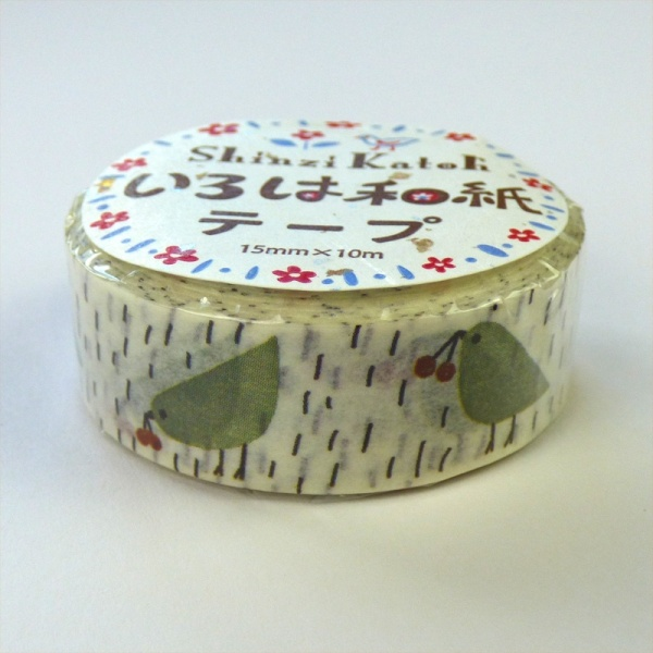 Birds design washi tape by Shinzi Katoh