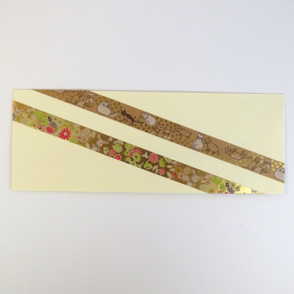 Washi tapes on card