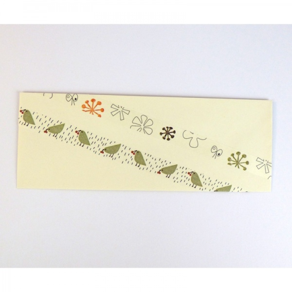 Washi tape on greetings card