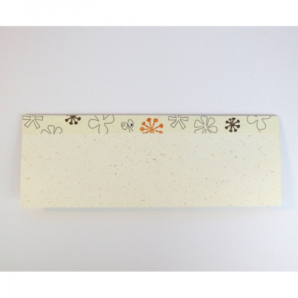 Flower pattern washi tape on greetings card