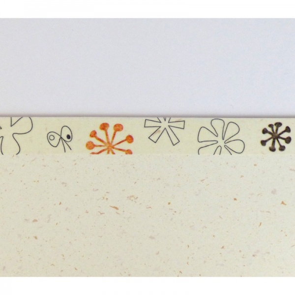 Close up of 'Tefutofu' flower pattern washi tape