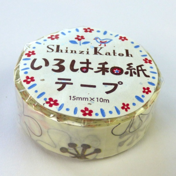 Flower pattern washi tape in wrapper